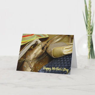 Gold Handbags Happy Mother's Day Card