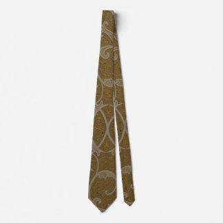Gold Handcrafted Motif Tie
