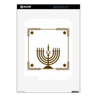 Gold Hanukkah Menorah Decals For The iPad 2