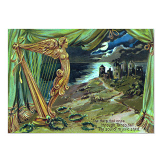 Gold Harp of Erin Castle Card