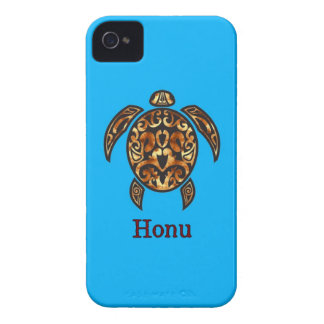 Gold Hawaiian Sea Turtle on Ocean Blue iPhone 4 Cover