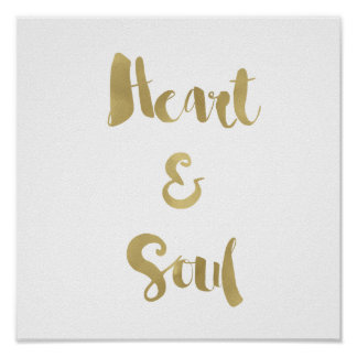 Gold Heart and Soul Poster