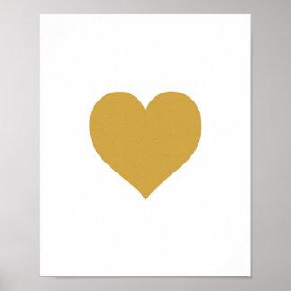 Gold Heart - Art Print - Decor