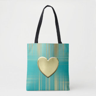 Gold Heart Collection Tote Bag