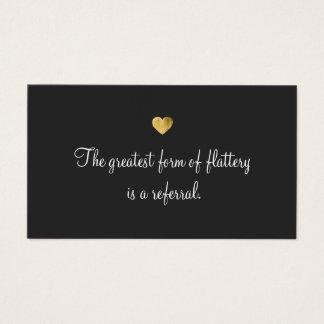 Gold Heart Customer Loyalty Referral Card