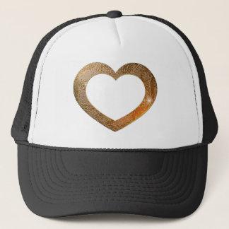 Gold Heart Frame Trucker Hat