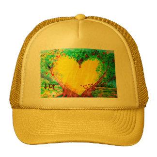 gold heart hat