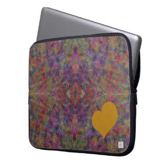 Gold Heart Laptop Sleeve