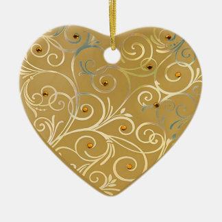 Gold Heart Love Ornament