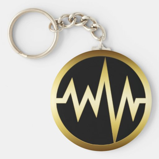 GOLD HEART MONITOR KEY CHAINS