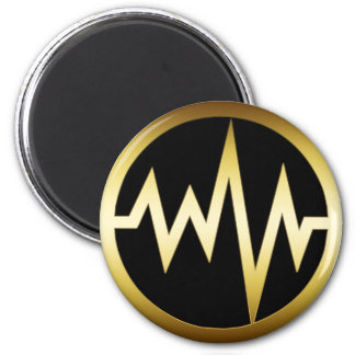 GOLD HEART MONITOR MAGNET
