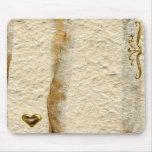 Gold Heart Mousepad