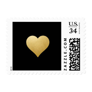 Gold Heart on Black | Las Vegas Wedding Stamp