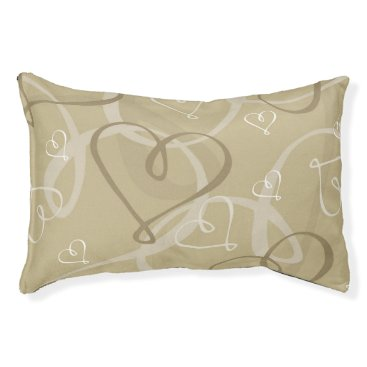 Bride Themed Gold heart pattern pet bed