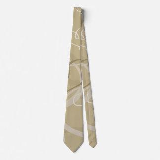 Gold heart pattern tie