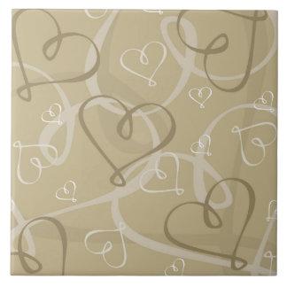 Gold heart pattern tile