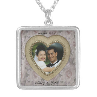 Gold Heart Photo Frame Necklace