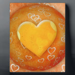 "Gold Heart Plaque<br><div class=""desc"">Spread the Love to the World with Golden Heart.</div>"