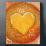 """Gold Heart Plaque<br><div class=""""desc"""">Spread the Love to the World with Golden Heart.</div>"""
