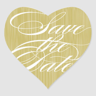 Gold Heart  |  Save the Date Envelope Seal Heart Sticker