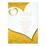 Gold Heart Wedding Invite