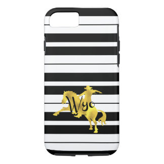 Gold Heart, Wyoming, Striped iPhone 8/7 Case