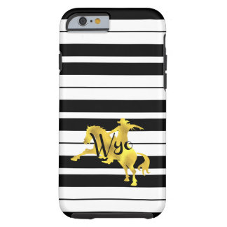 Gold Heart, Wyoming, Striped Tough iPhone 6 Case