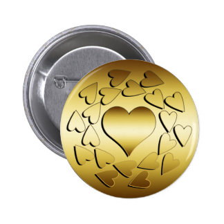 GOLD HEARTS BUTTON