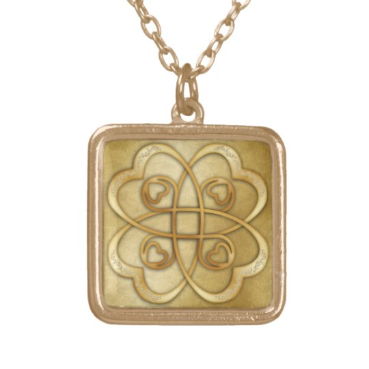 Gold Hearts Double Infinity - Necklace 3
