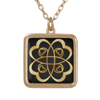 Gold Hearts Double Infinity - Necklace 4
