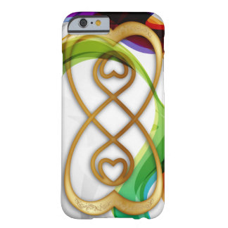 Gold Hearts Double Infinity & Rainbows - iPhone Barely There iPhone 6 Case