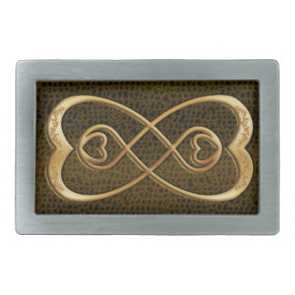 infinity belt. gold hearts double infinity snake skin - buckle belt
