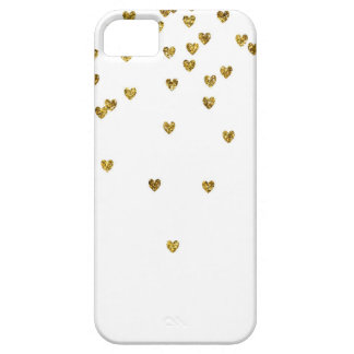 Gold Hearts iPhone SE/5/5s Case