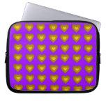 Gold Hearts Neoprene Laptop Sleeve
