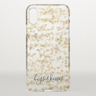 Gold Hearts Uncommon iPhone Case