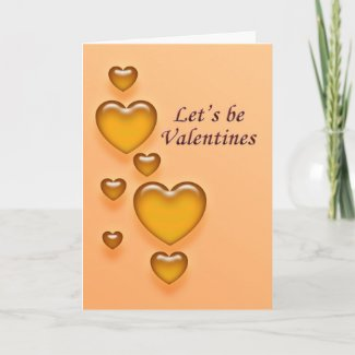 Gold Hearts Valentine's Day Greeting Card