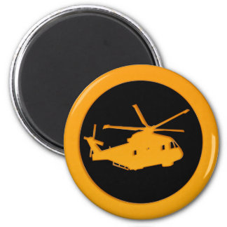 Gold Helicopter Magnet