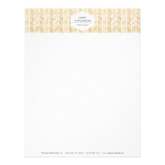 GOLD HERRINGBONE / CHEVRON ARTWORK Letterhead