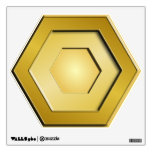 Gold Hex Wall Decal