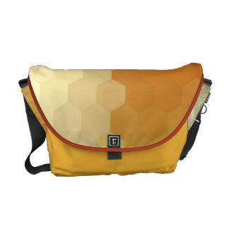Gold Hexagon Seamless Pattern Courier Bag