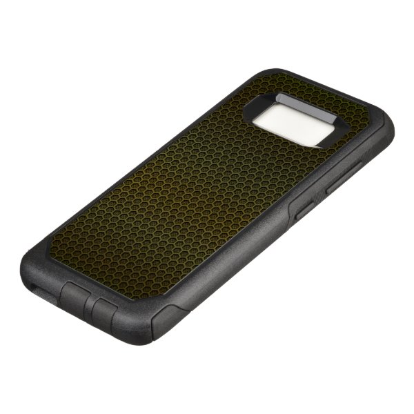 Gold Hexagonal Carbon Fiber Honeycomb Mesh OtterBox Commuter Samsung Galaxy S8 Case