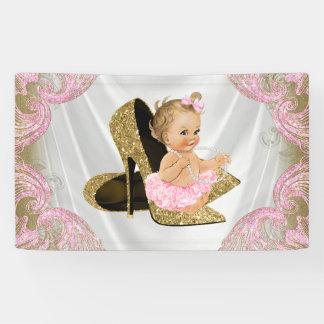 Gold High Heel Shoe Baby Shower Banner
