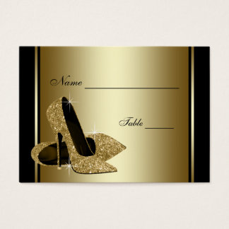 Gold High Heel Shoe Table Seating Cards