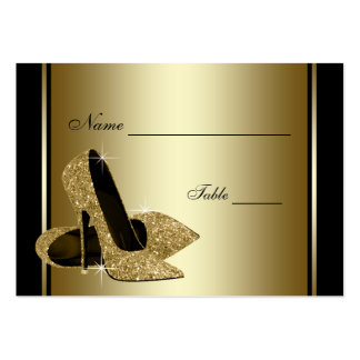 Gold High Heel Shoe Table Seating Cards Large Business Card