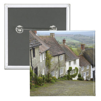 Gold Hill, Shaftesbury, Dorset, England, United 2 Inch Square Button