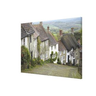 Gold Hill, Shaftesbury, Dorset, England, United Canvas Print