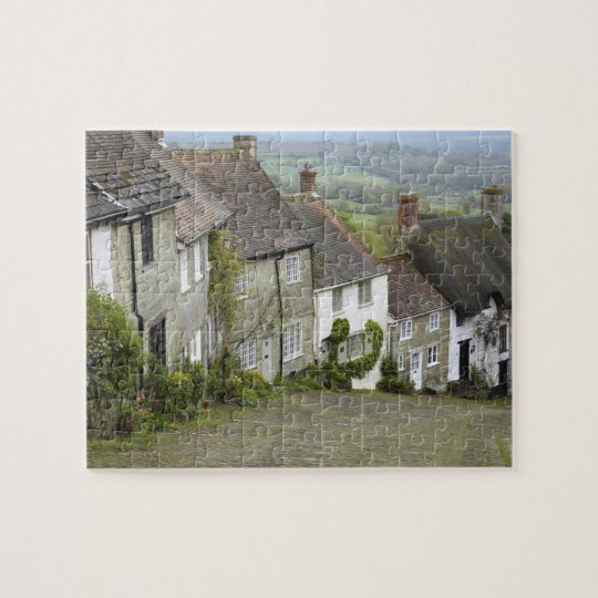 Gold Hill, Shaftesbury, Dorset, England, United Jigsaw Puzzle