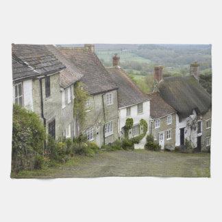 Gold Hill, Shaftesbury, Dorset, England, United Kitchen Towel