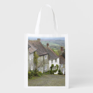 Gold Hill, Shaftesbury, Dorset, England, United Reusable Grocery Bag