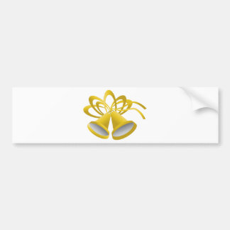 Gold Holiday Bell Bumper Sticker